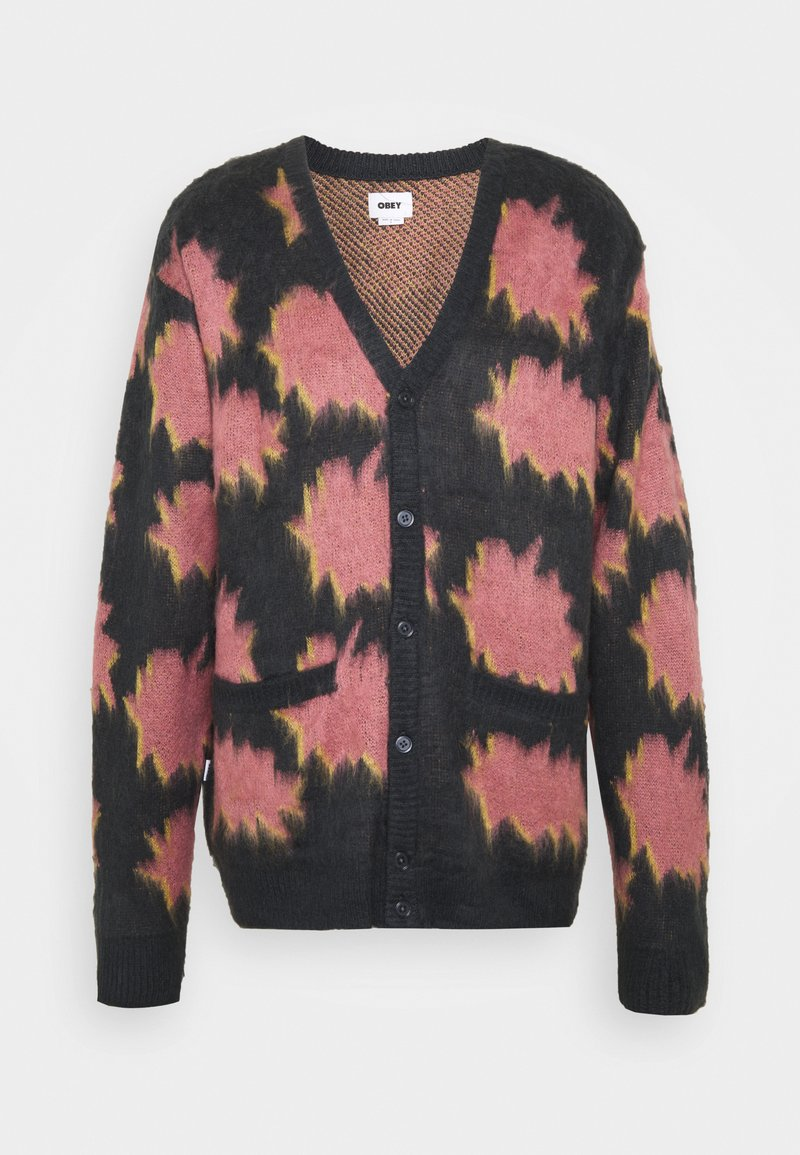 Obey Clothing - CRACKLE  - Cardigan - navy multi