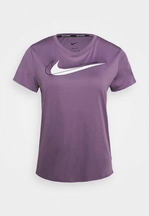 RUN - T-shirt con stampa - amethyst smoke/silver