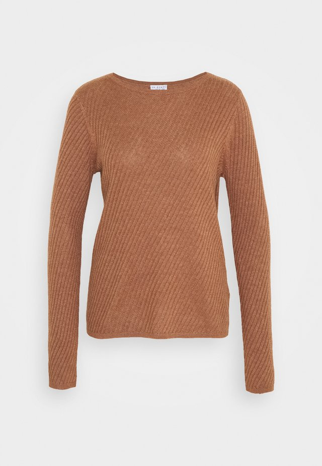STRUCTURED - Sweter - cinnamon melange