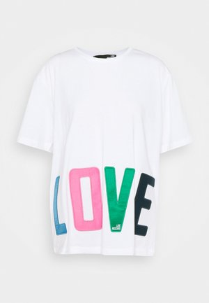 T-shirt z nadrukiem - optical white