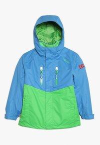 TrollKids - KIDS BRYGGEN JACKET UNISEX 2-IN-1 - Hardshell jacket - medium blue/bright green - 0