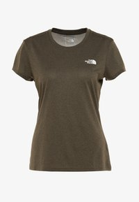 The North Face - WOMENS REAXION CREW - Basic T-shirt - green heather - 3