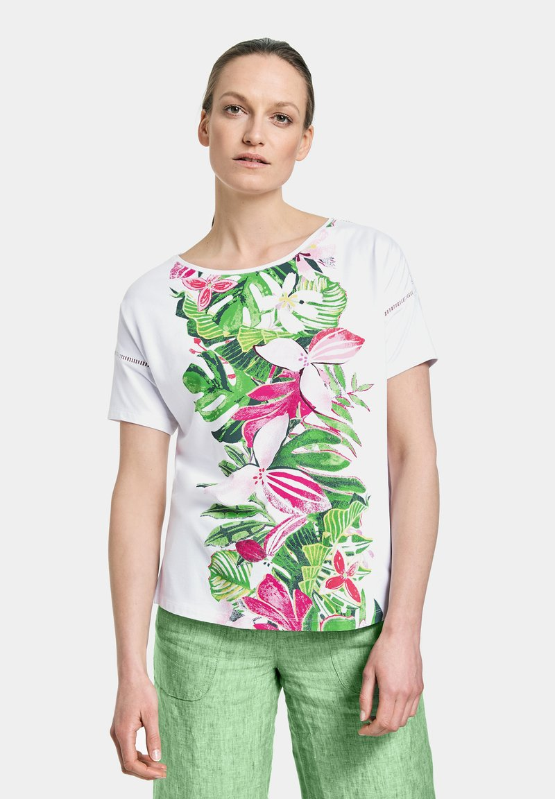 Gerry Weber Casual - T-shirt med print - white