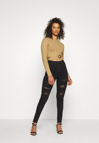 Missguided Tall - SHELL LONG SLEEVE - Jumper - brown - 1
