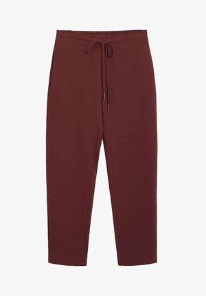 SEMIFLU - Spodnie materiałowe - grenat
