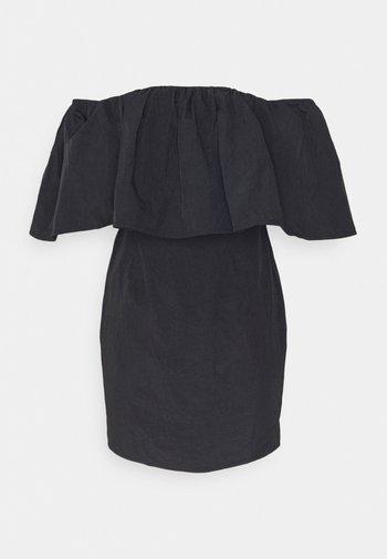 FRILL BARDOT MINI DRESS - Koktejlové šaty/ šaty na párty - black