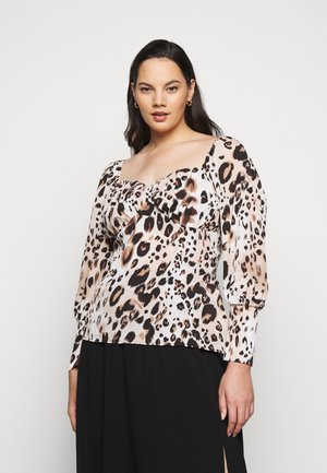 LEOPARD PRINT SWEETHEART - Blouse - brown