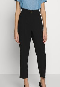Dorothy Perkins - TAPERED TROUSER - Trousers - black - 0