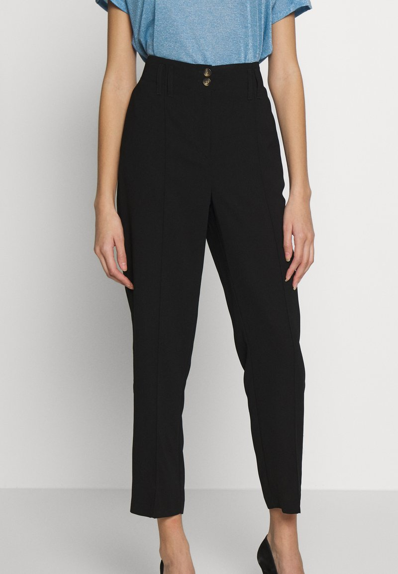 Dorothy Perkins - TAPERED TROUSER - Trousers - black