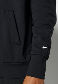 Nike Performance - NBA BROOKLYN NETS LOGO HOODIE - Club wear - black/white