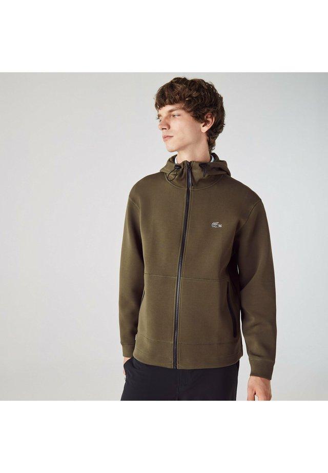 veste en sweat zippée - khaki grün