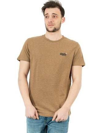 T-shirt print - marron