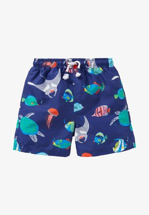 GEMUSTERTE - Swimming shorts - segelblau/fische