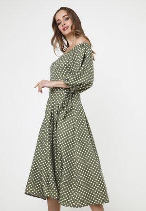 ANTONELLA - Day dress - khaki/ weiß
