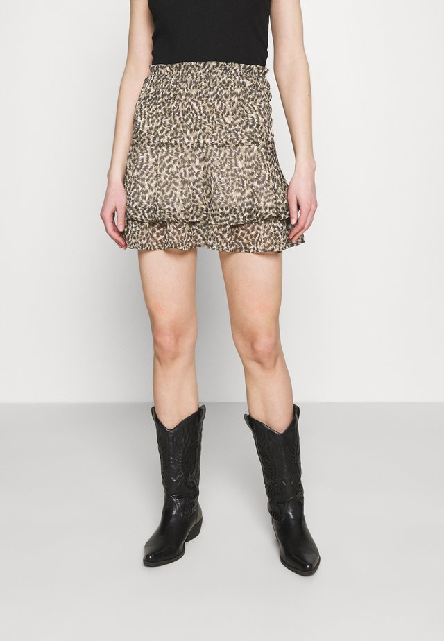 ONLMARGUERITE SKIRT - Minifalda - pumice stone