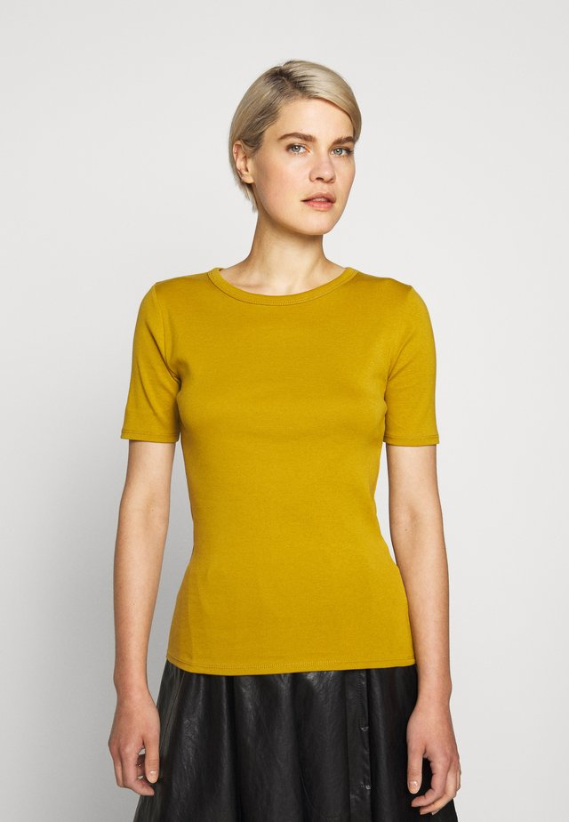 CREWNECK ELBOW SLEEVE - T-shirt basic - bronzed olive