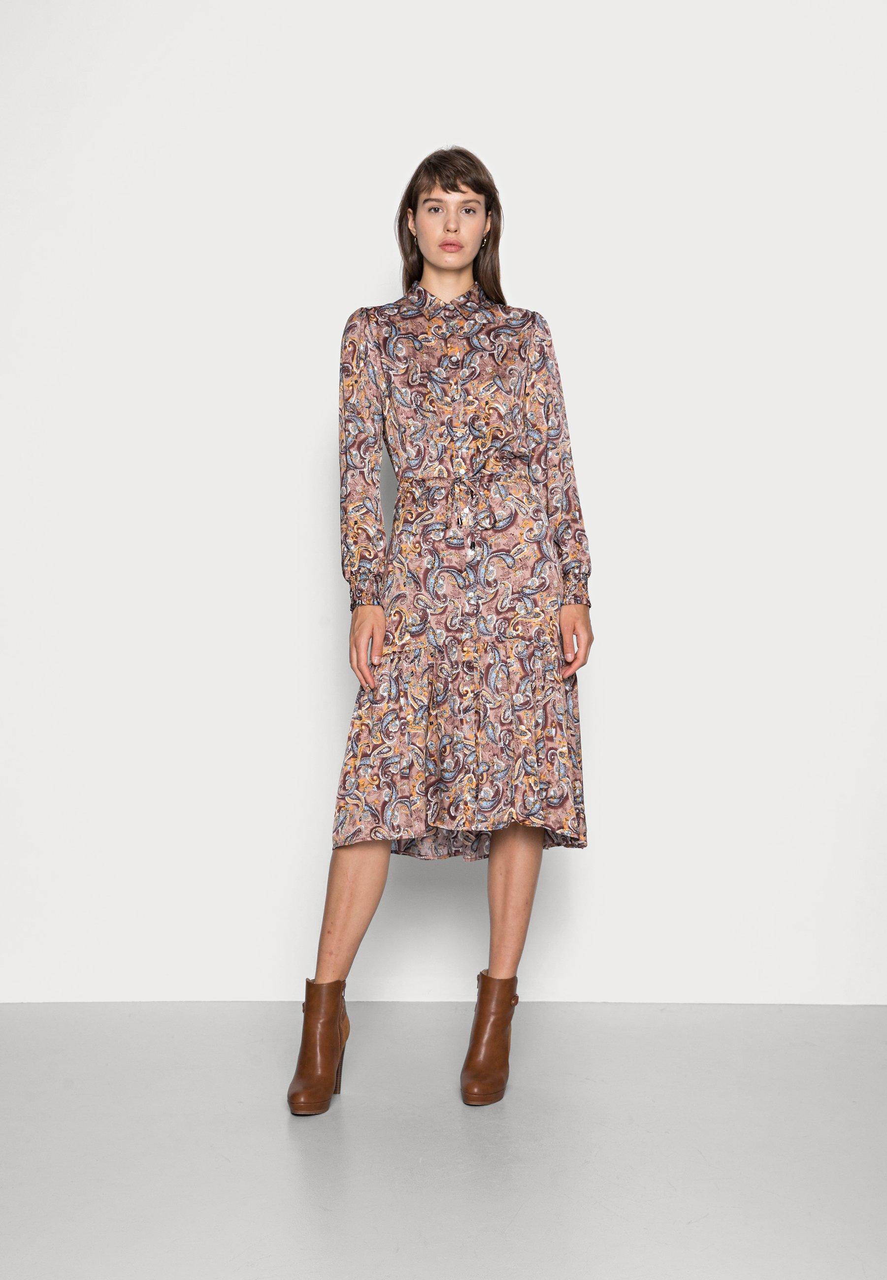 Women DRESS PAISLEY PRINT - Shirt dress