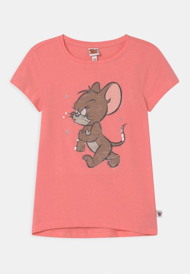 Print T-shirt - geranium pink