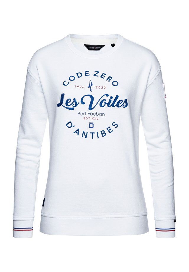 LES VOILES OVERSIZED DAMEN - Sweatshirt - white