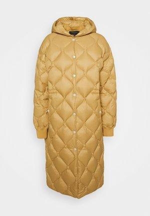RUDY LONG PUFFER LABEL - Down coat - palebeige