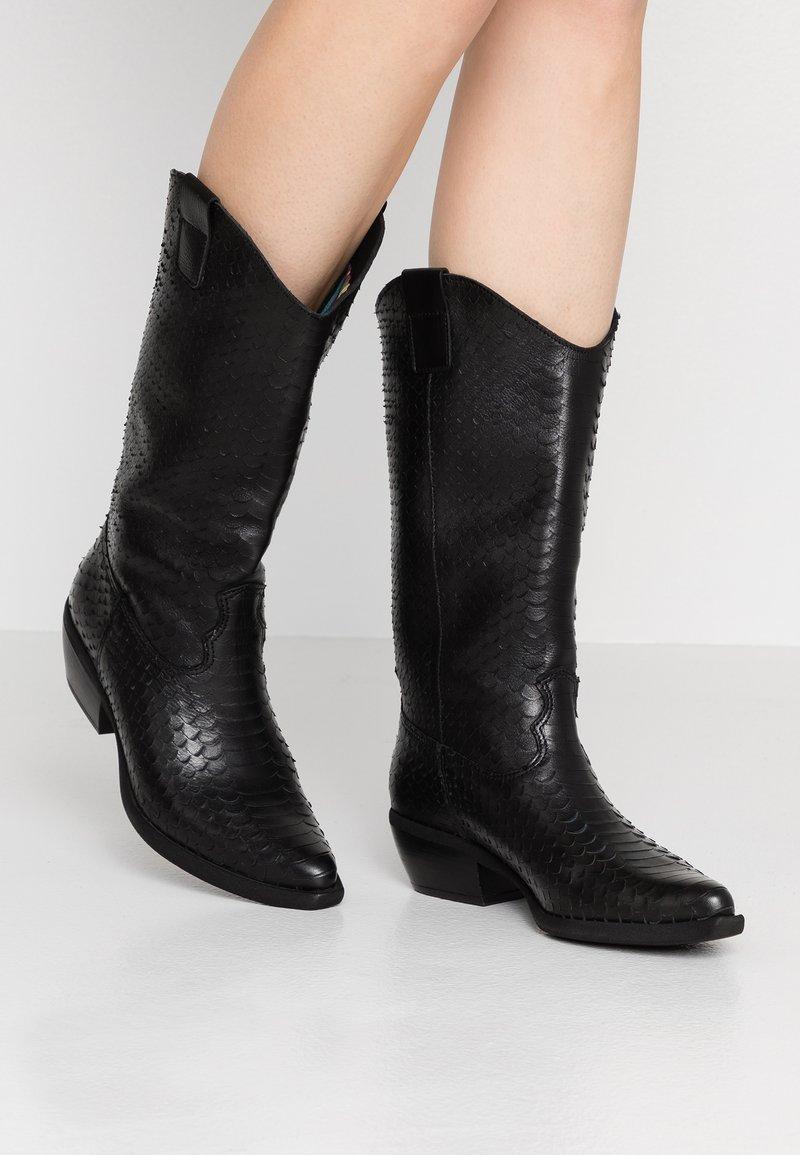 Felmini - EL PASO - Cowboy/Biker boots - naja/black