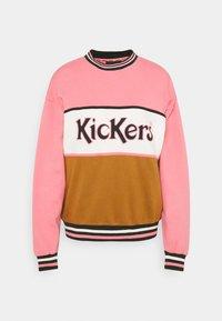 Kickers Classics - CHEST PANEL - Felpa - pink/brown - 0