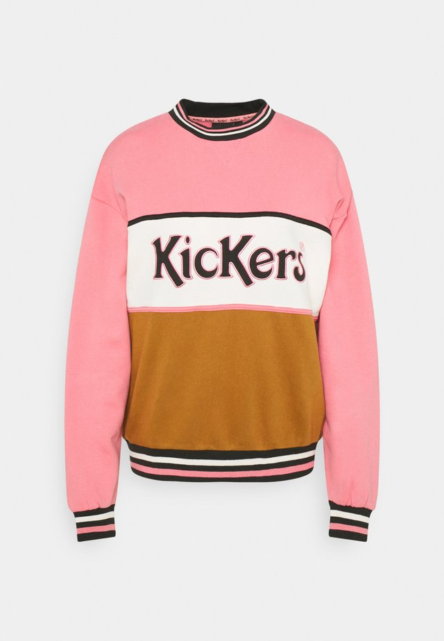 CHEST PANEL - Sweater - pink/brown