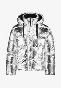 GAP - V-MIDWEIGHT NOVELTY PUFFER - Vinterjakke - silver metallic - 4