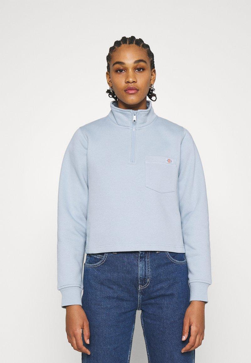 Dickies - OAKPORT QUARTER ZIP  - Sweatshirt - fog blue