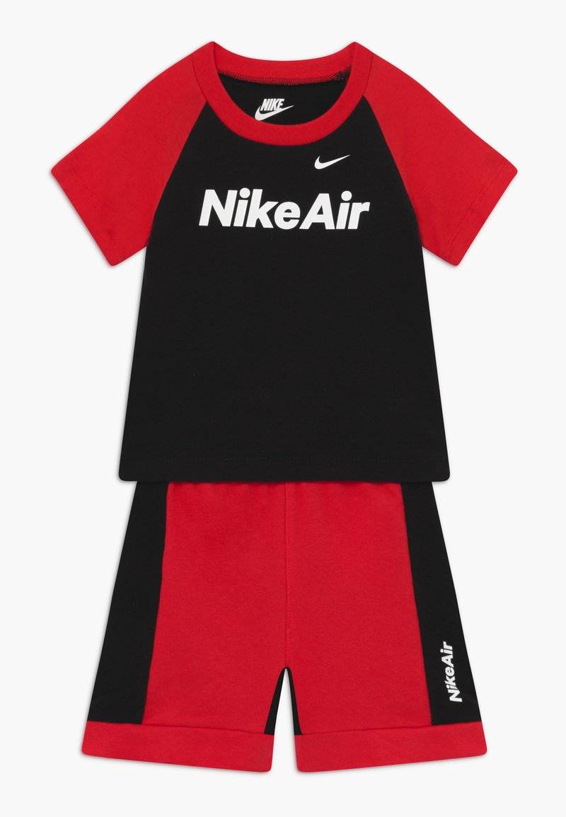 Nike Sportswear - AIR FRENCH BABY SET  - Trousers - black/university red