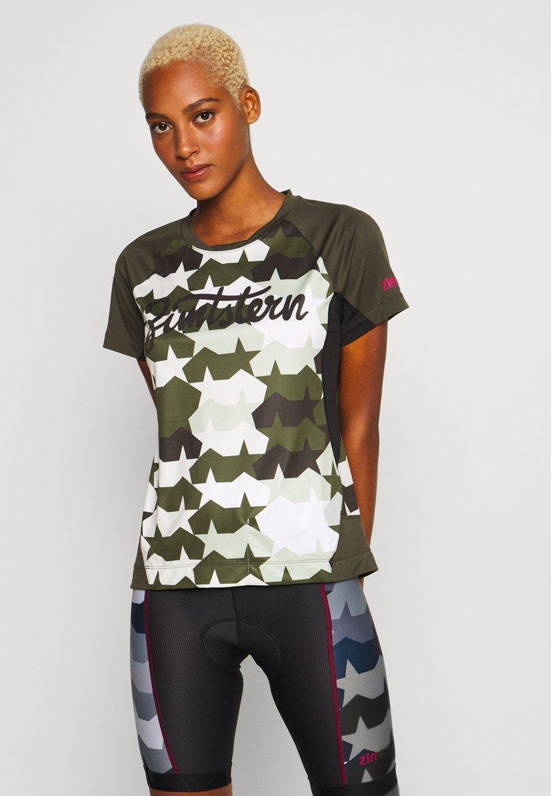 Zimtstern - TECHZONEZ - T-Shirt print - fog green/forest night/jester red