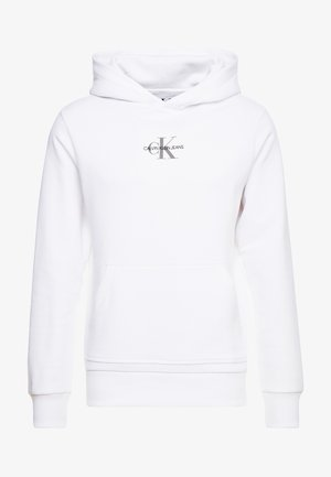CHEST MONOGRAM HOODIE - Huppari - bright white