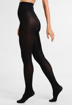 VERTICAL PATTERN - Tights - black