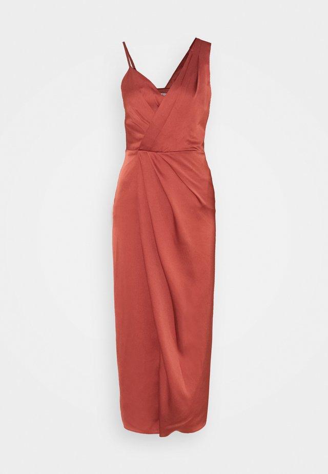 NATALIE COLUMN DRESS - Cocktailjurk - rose rust
