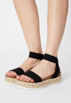 KATNISS - Platform sandals - black
