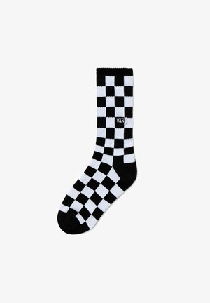 BY CHECKERBOARD CREW BOYS (1-6, 1PK) - Sokken - black-white check