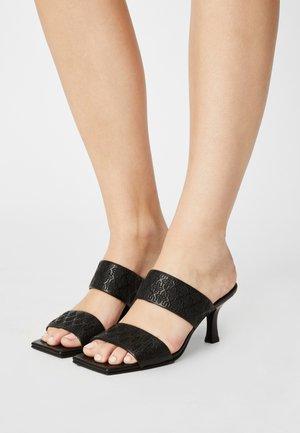 OLI-VIAH - Heeled mules - black