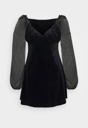 PUFF SLEEVE SKATER DRESS - Robe d'été - black