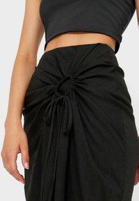 Stradivarius - Maxi skirt - black - 3