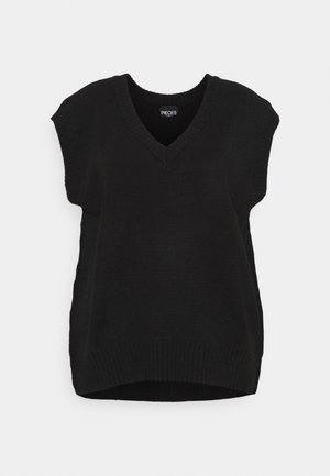PCCHRIS V NECK - Stickad tröja - black