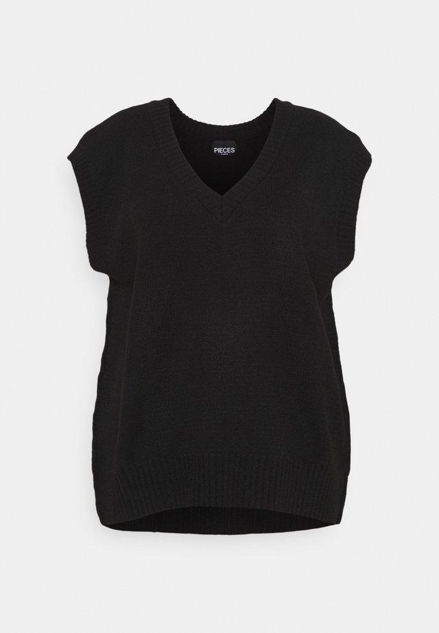 PCCHRIS V NECK - Jumper - black