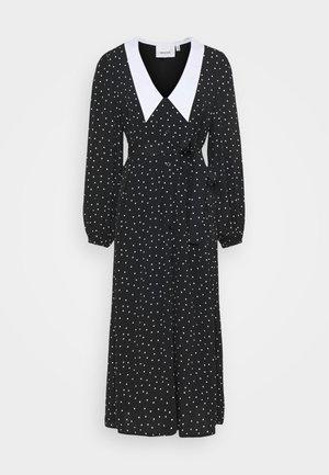 KATLA DRESS - Shirt dress - black/white