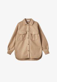 PULL&BEAR - Button-down blouse - brown - 6