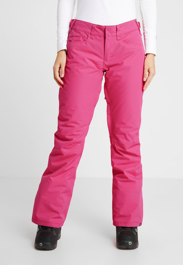 BACKYARD  - Pantaloni da neve - beetroot pink