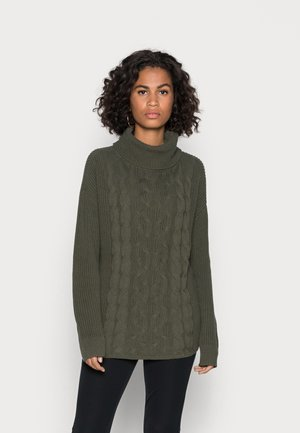 CABLE TNECK - Neule - olive