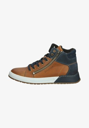 Sneakers hoog - cognac cogn