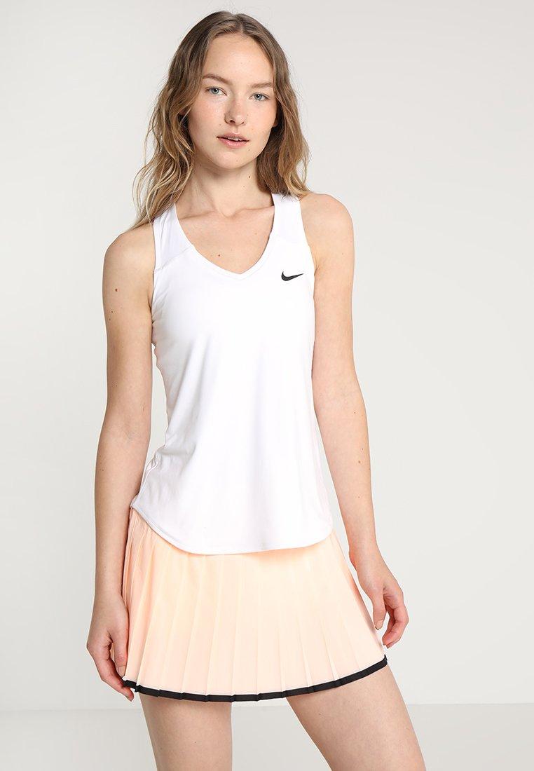 Nike Performance - TEAM PURE - Sports shirt - blanc/noir