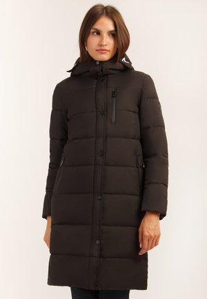 MIT GERADEM SCHNITT - Winter coat - black