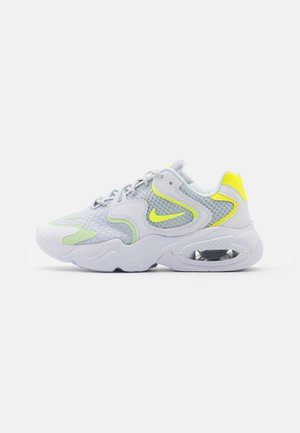 AIR MAX 2X - Trainers - pure platinum/volt/lemon/barely volt/white