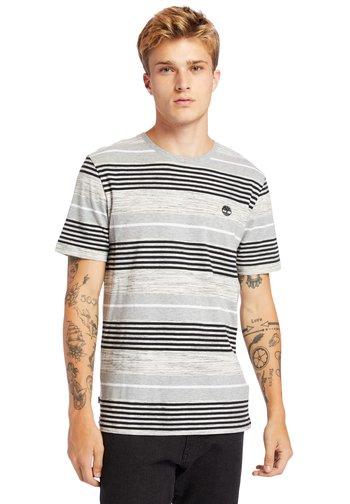 Print T-shirt - medium grey heather yd